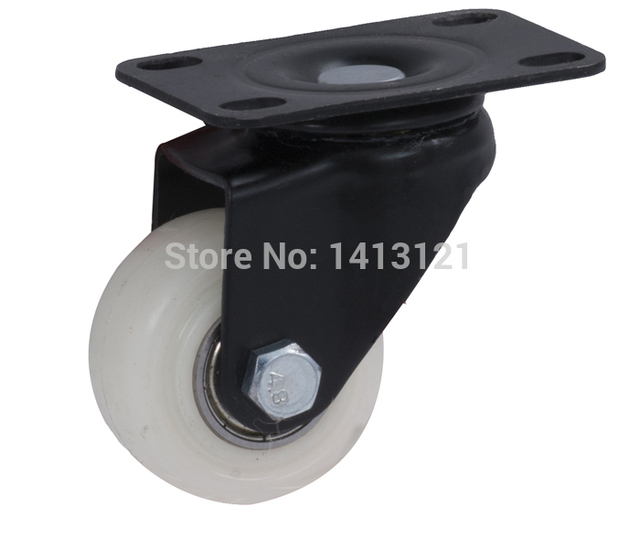 free shpping furniture caster Universal Flat Topwheel furniture hardware wheel PP mute caster chair Handling Equipment part