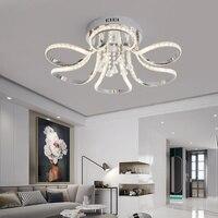 Хромированная готовая хрустальная люстра для гостиной, спальни, кабинета, дома, деко 90 265 в, Современная Потолочная люстра, светильники