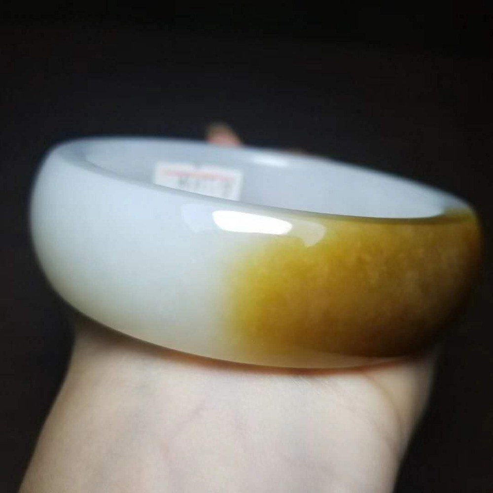Bangles 100%russian Material And Tianyu Sugar White Yu Round Bracelet/2 Pure And Mild Flavor