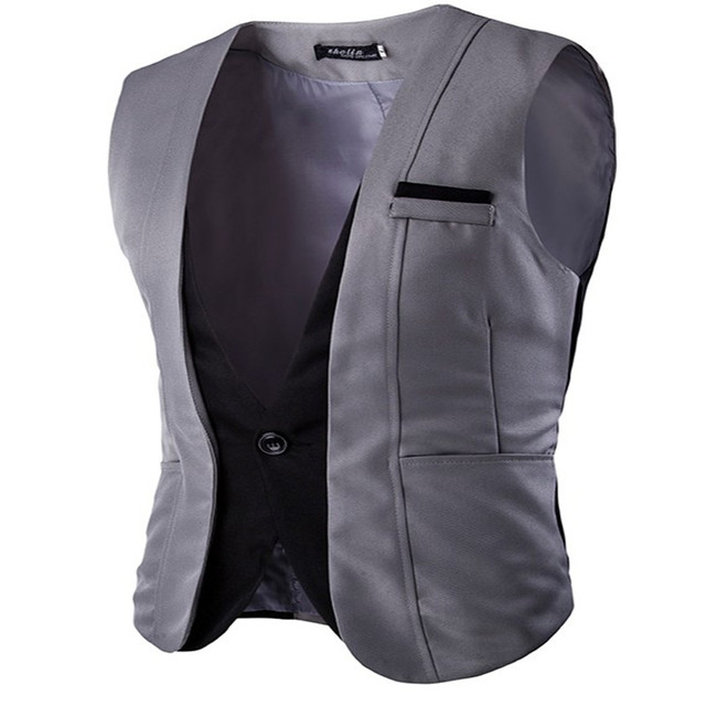 MEBOSYA 2016 The new fashion wild gentleman essential leave two men's Slim vest/men suit vest/men's waistcoat