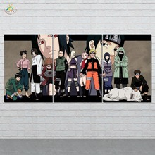 Naruto Anime Character Wall Art Canvas Painting Posters and Prints Decorative Picture Decoration Home For Living Room 3 PIECES