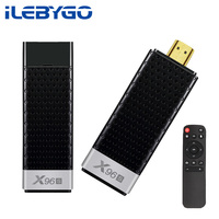 Ilebygo X96S 4K Mini TV Stick Android 8.1 4GB 32GB S905Y2 Quad Core 2.4G&5GHz Dual Wifi BT4.2 1080P H.265 Smart TV Dongle