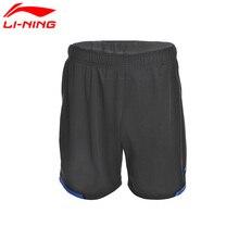 Li-Ning, мужские шорты для соревнований по бадминтону, полиэстер, тонкие дышащие спортивные шорты с короткой подкладкой, AAPM143 CJFM17