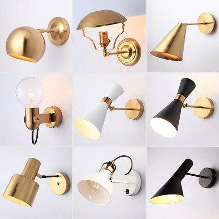 100% Kwaliteit Moderne Creatieve Nordic Eenvoudige Led Swing Arm Ijzer Metalen Wandlamp Voor Bedside Gang Gouden Achtergrond Slaapkamer Wandkandelaar Comfortabel En Gemakkelijk Te Dragen