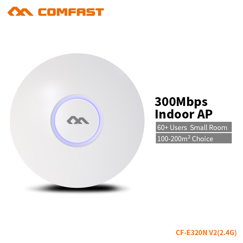 comfast cf e320n 300mbps ceiling ap 802 11b g n wireless ap wifi coverage router 16 flash wifi access point add 48v poe power COMFAST Wireless Ap 300Mbps Access Point Wifi Router Indoor AP For 200 Square Meters Wifi Coverage 60+ users OpenWRT CF-E320N V2