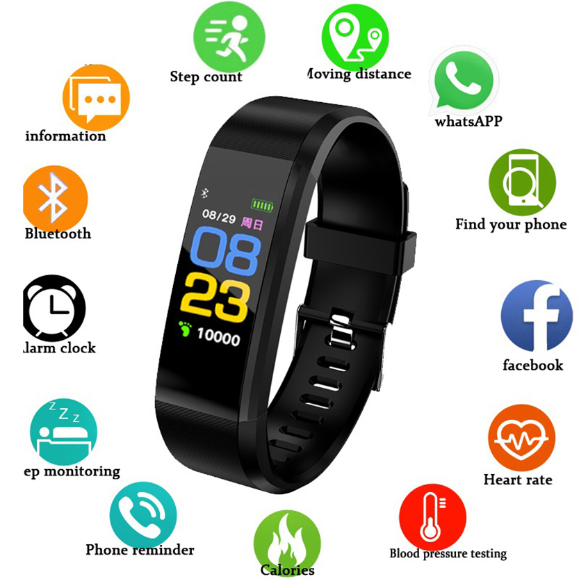 Smart Bracelet ID115Plus Sport Bluetooth Wristband Heart Rate Monitor Watch Activity Fitness Tracker Smart Band PK Mi band 2 SD1Smart Bracelet ID115Plus Sport Bluetooth Wristband Heart Rate Monitor Watch Activity Fitness Tracker Smart Band PK Mi band 2 SD1