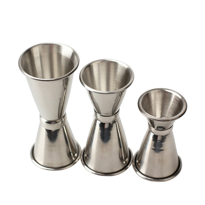 Hot Sales 304 Stainless Steel Double Jigger Cocktail Measuring Cup Bar Tools Silver Gold in Bar Measures from Home Garden