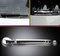 For VW Volkswagen Golf 7 MK7 2014 2018 ABS Chromed Rear Window Wiper Noozle Cover Trim 4pcs Car Styling Accessories