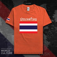 Tailândia camisas 2017 camiseta da equipe da nação camiseta do algodão da camiseta da reunião da marca de fitness roupas t país tailandês bandeiras th|Camisetas| |  -