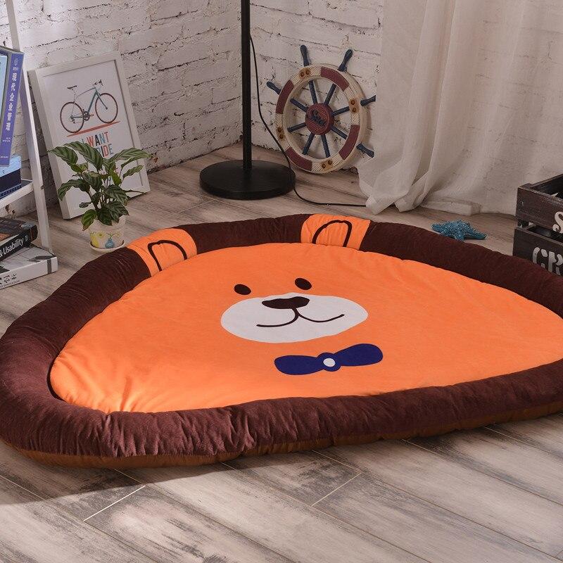 145 CM tapis de sol circulaire belle bande dessinée antidérapant tapis rampant enfants jouer tapis de jeu tapis de décoration de chambre ronde un cadeau d'enfant