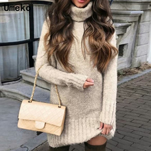 Pullover Women Sweaters Fashion 2018 Turtleneck Oversized Knitted Sweater Warm Winter Long Tops Plus Size Pull Femme Hiver