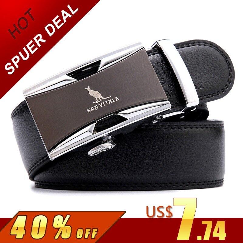 Famosa marca de cinturón 100% de buena calidad de piel de vaca genuino de lujo de los hombres de cuero cinturones para hombres correa de hombre de Metal hebilla automática