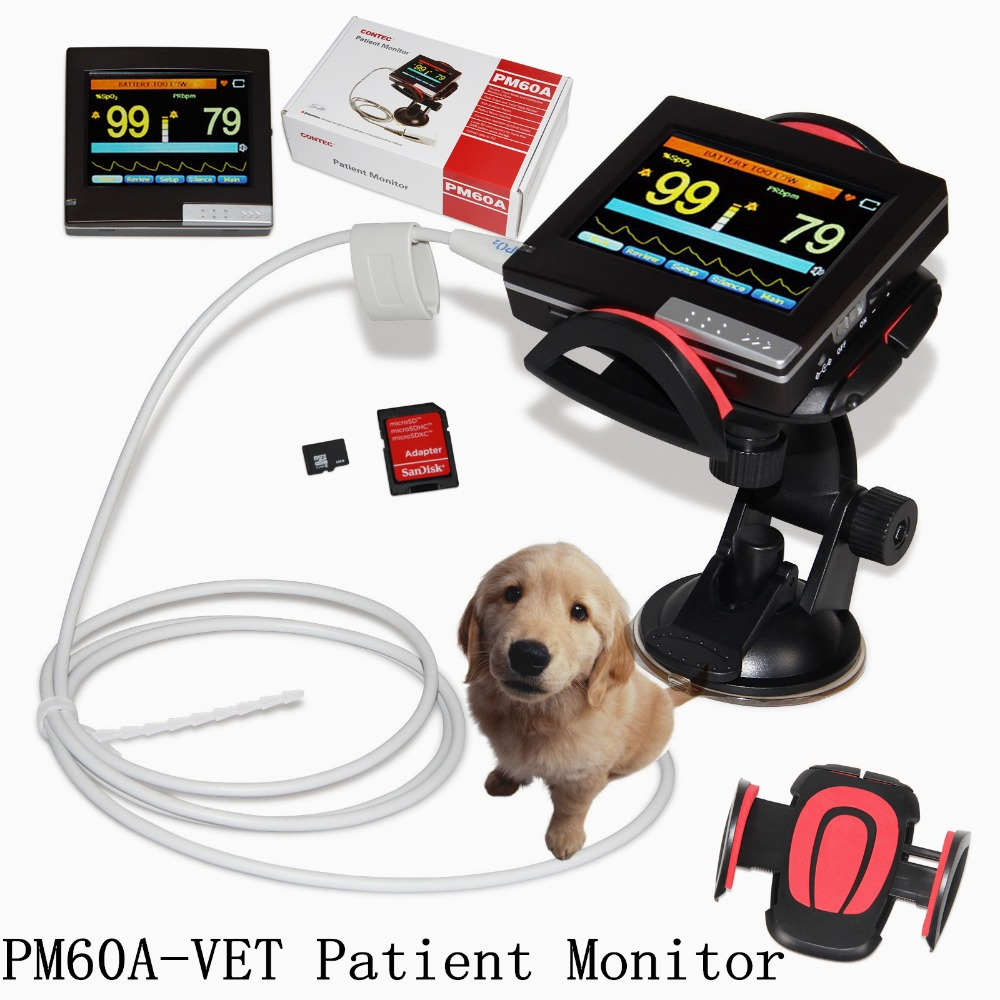 Contec PM60A Vet Pulse Rate, SPO2 Portable Handheld Veterinary Pulse Oximeter Monitor With Software for Animals ems free shipping ce approve pm60a portable pulse oximeter and heart rate monitor for veterinary