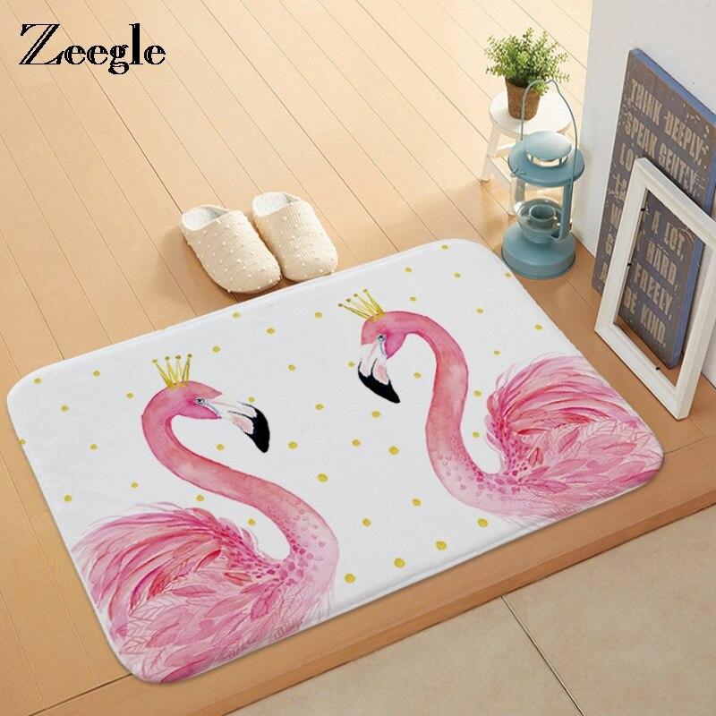 Home Textile Generous Zeegle Cartoon Funny Doormats Anti-slip Kitchen Area Rugs Coffee Table Floor Mats Soft Bedroom Bedside Mats Entrance Hallway Rug