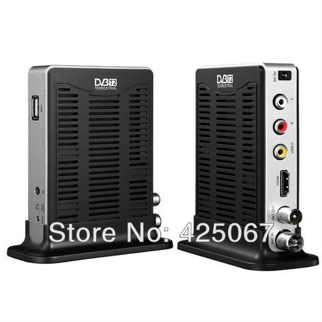 Newest DVB-T2 Mini HD Terrestrial Digital Television Receiver Compatible DVB T DVB T2 w/ HDMI / USB / PVR - Black+Silver