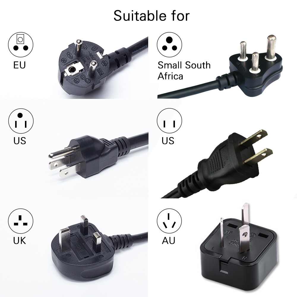 Jfegwo 2 Pcs Usb Wall Socket Universal Outlet Extension Power Electrical Wiring Uk Image