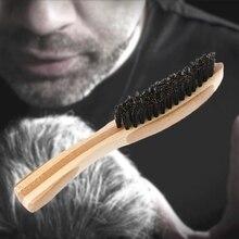 Щетка для бороды, кабана, щетина для мужских усов, расческа для бритья, Массажная щетка для лица, щетка для чистки волос, бук, длинная ручка