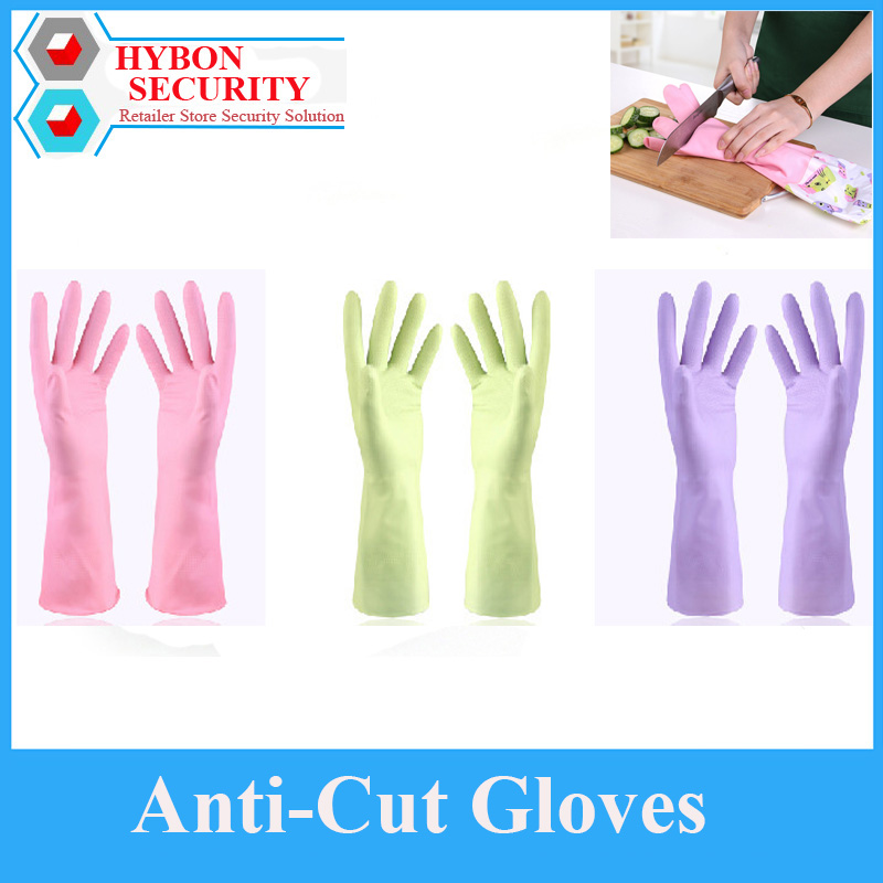 Safety Anti Cut Gloves Self Defense Cutter Kitchen Wash Dishes Cleaning Long Sleeve Rubber Latex Gloves Tool Selbstverteidigung