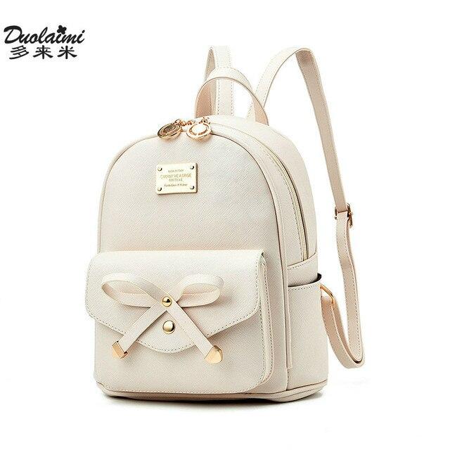 3cdb2c59ef556 Moda kobiety mini plecaki damskie mały skórzany plecak torby szkolne  nastolatek dziewczyny w stylu vintage kobiet