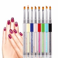 Nail Brush 8 Pcs Nagels Spulletjes UV Gel Acrylic Liner Painting Nail Accessories And Tool Tips