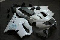 Fairings Unpainted White+Black CBR600RR Fairings BodyWork Kit For HONDA CBR600F F4 1999 2000 Injection mode Motorcycle ZXMT
