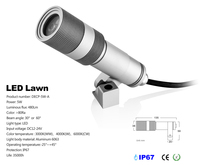 CREE 5W Spot Garden LED Outdoor IP67 Waterproof Inground LED Lawn light DC 12V 24V landscape lamp 2pcs/lot Freeshipping