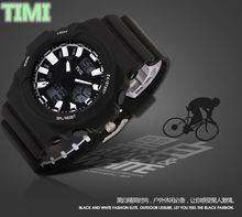 TVG Fashion Multifunctional Riding mountain mens watch LED Double display dance movement sport weist watch C875