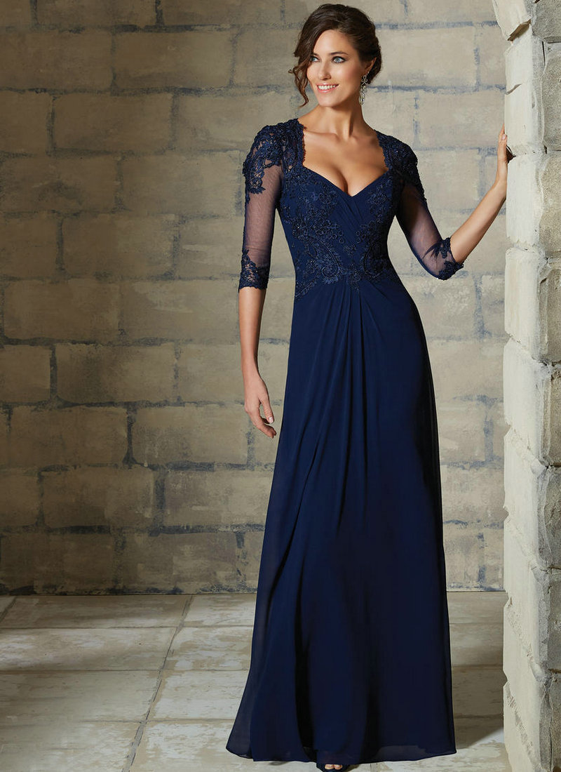 Navy Blue Mother Of The Bride Dress - Ocodea.com