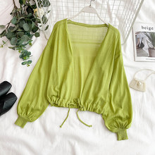2019 Summer Thin Knitted Cardigan Women Long Sleeve Sunscreen Coat Ladies Casual Loose Outfit Cardigans
