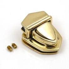 Твердый латунный металлический замок защелкивающийся замок защелкивающаяся застежка застежки-пряжки для кожаных сумок Чехол Сумочка Кошелек портфель