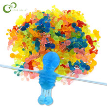 Yaratıcı çocuklar parti kaynağı iyilik çok renkli Mini yapışkan jöle sopa tokat Squishy yapışkan iskelet oyuncak GYH