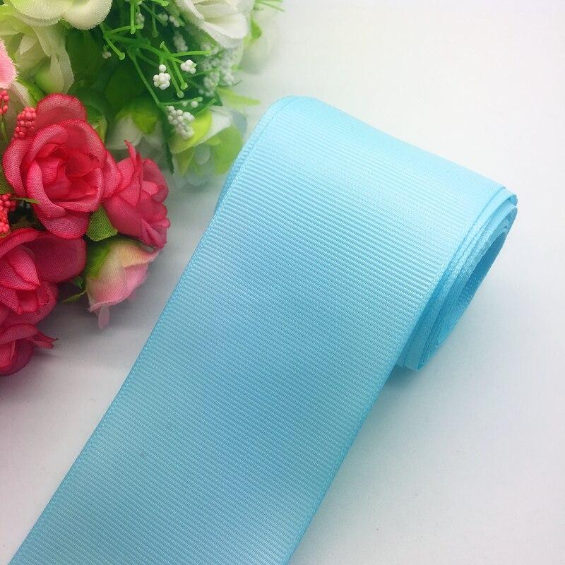 3 ярдов/партия 2 дюйма 50 мм широкий озеро синяя корсажная лента банты на голову свадебный DIY ремесла