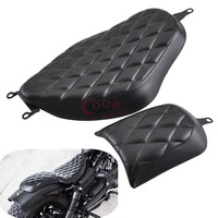 Motorcycle Rough Crafts Diamond Driver Seat+ Rear Passenger Seat For Harley Sportster XL 2010-2016 883 Iron 1200 48 72