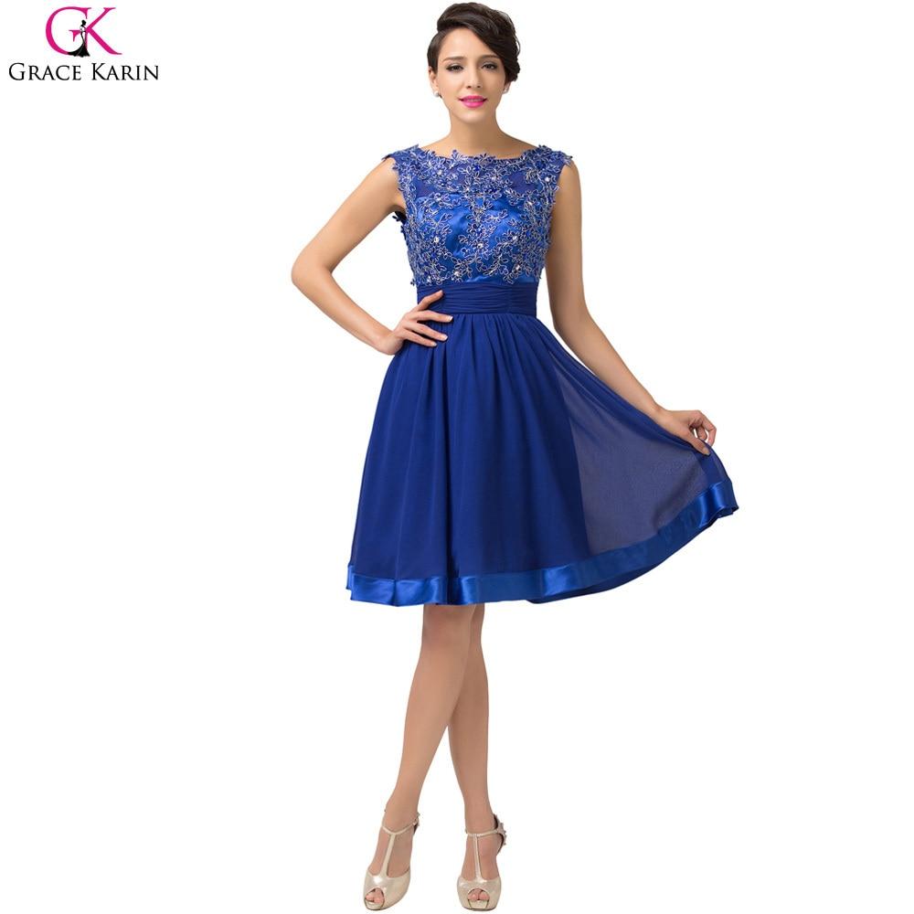 Popular Lace Royal Blue Cocktail Dress-Buy Cheap Lace Royal Blue ...