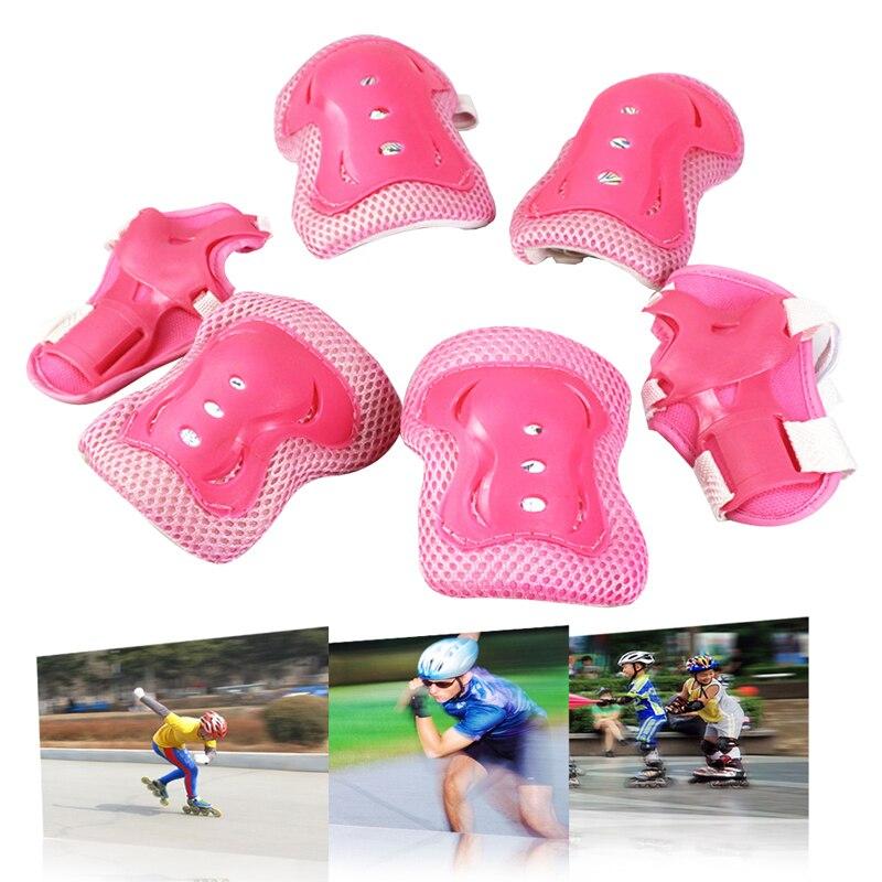6PCS Children Wrist Elbow Knee Pads Set 2 Wrist Pads + 2 Elbow Pads + 2 Knee Pads Kids Sport Protective Tool kinesio tape BHU2