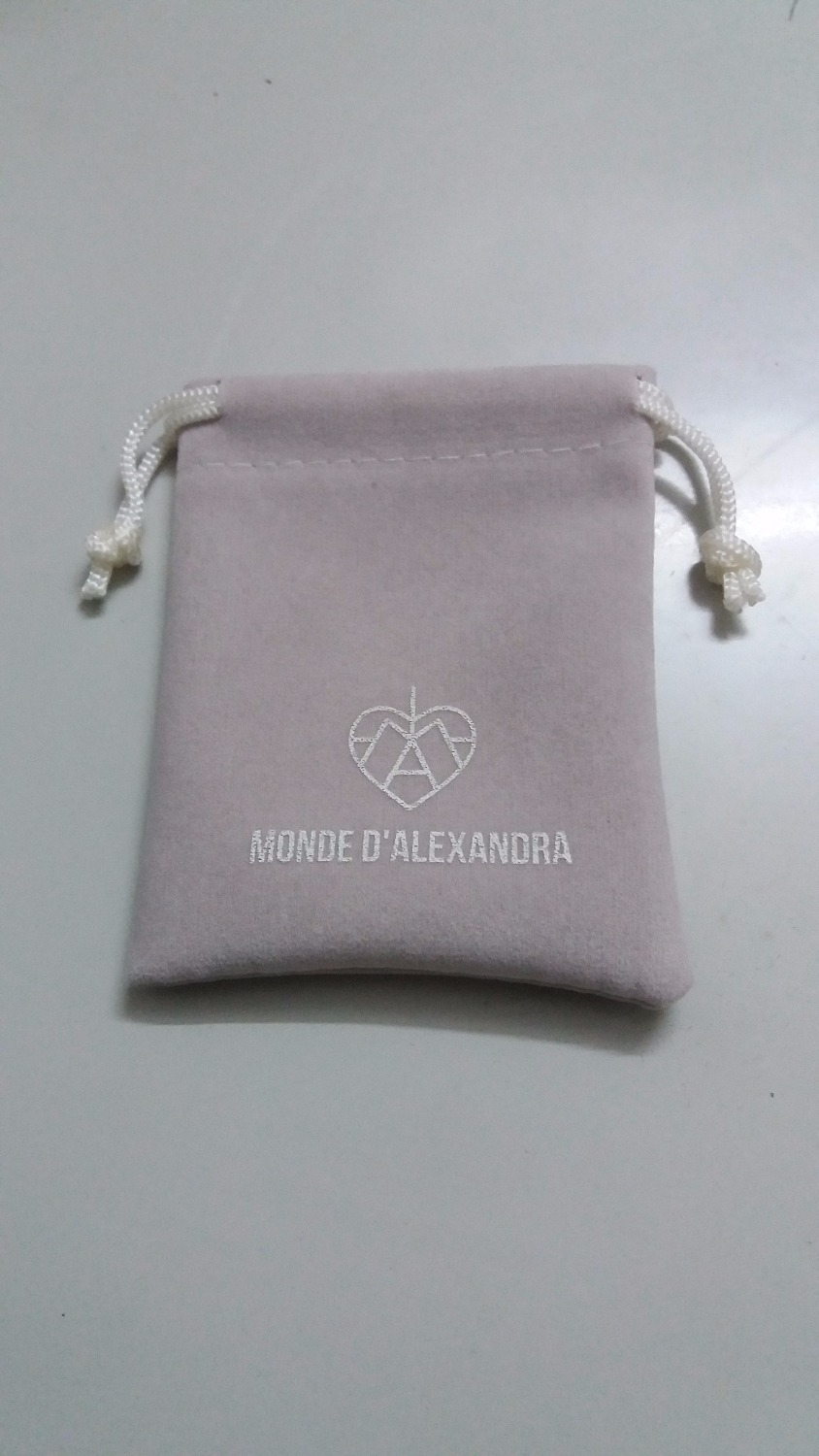 high quality drawstring bag 500pcs/lot grey velvet bag size 7*9cm with custom silver logo and free shipping by DHL jewelry bag