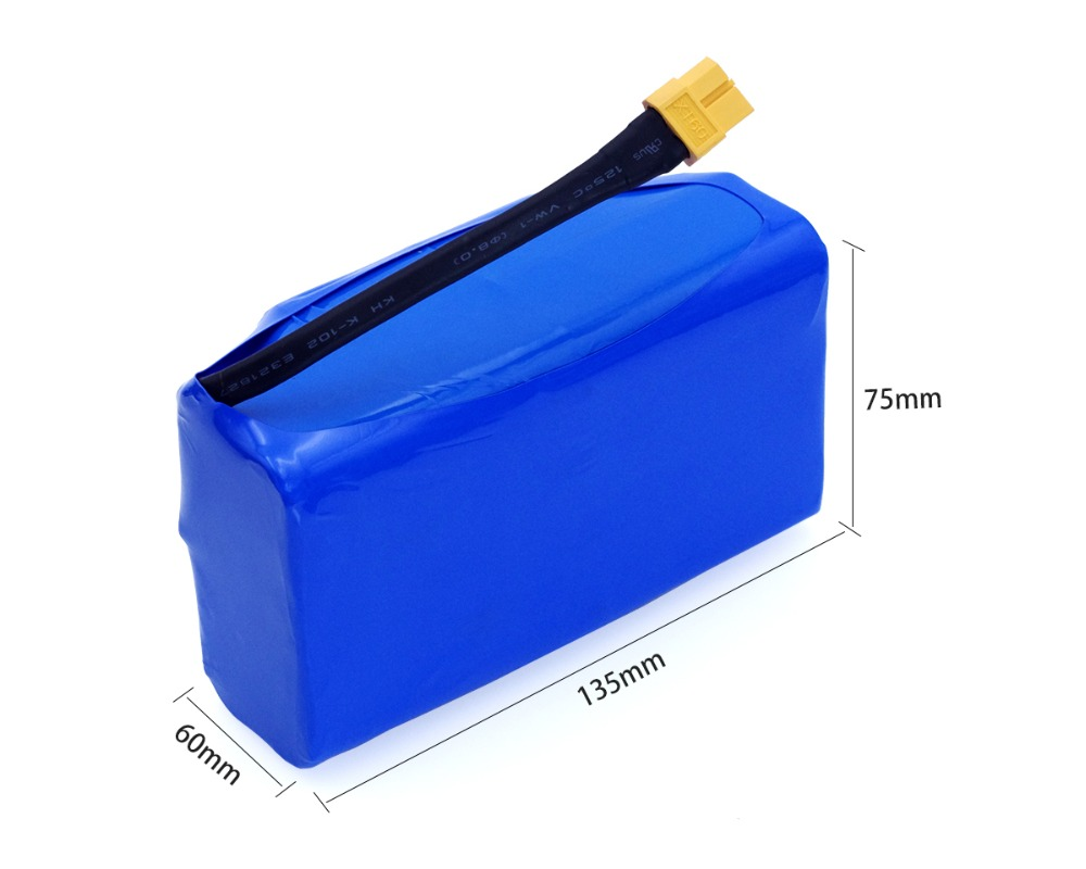 """Image 3 - 36V 5.2Ah 5200mah high drain 2 wheel electric scooter self balancing lithium battery pack for Self balancing Fits 6.5"""" 7""""-in Battery Packs from Consumer Electronics"""