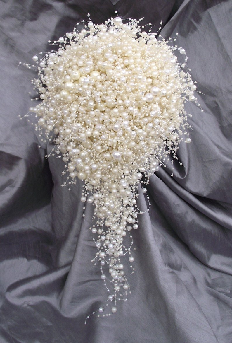 Whitney Ivory Wedding Bouquet Bridal Holding Flowers pure pearls Bridesmaid Flowers fashion Bridal Bouquets In Stock