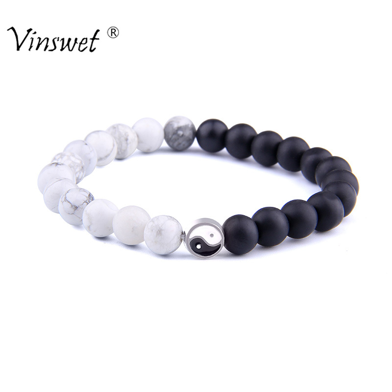 Yin Yang Bracelets For Men Lucky