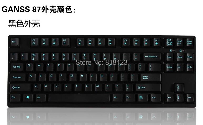 Prix pour 87 touches clavier mécanique TKL tenkeyless gaming clavier cerise mx clair brun bleu rouge 87 compact jeu clavier