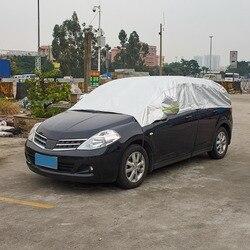 Najnowszy przednia szyba samochodu parasolka śnieg mróz samochodów pokrywa osłona na szybę przednią wodoodporna wiatroszczelna pyłoszczelna samochód Covers3.3Mx1.65M