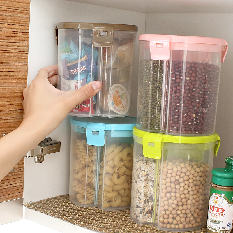 food jar grain storage tank plastic food containers sealed cans