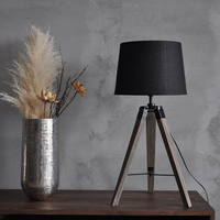 American Rural triangle desk lamp table lamp simple solid wood eye protection learning light bedside bag MZ21