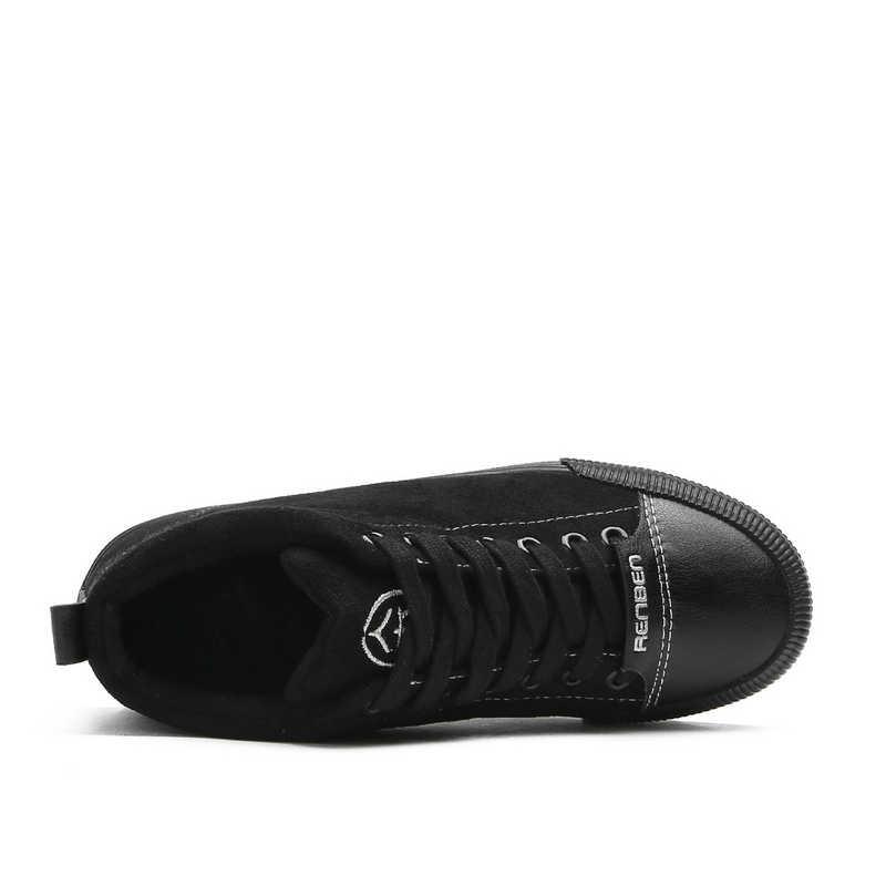 Akın Çizmeler Kadın Botları Kar Sıcak Kış Sneakers Lace Up Kürk Bayanlar Kış Ayakkabı Siyah yarım çizmeler