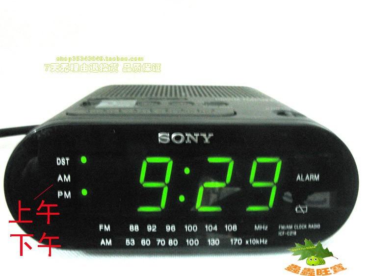 9f6c20d9f6e A Sony ICF-C218 relógio rádio características de configuração automática da  hora incluindo comutação de e para o horário de verão