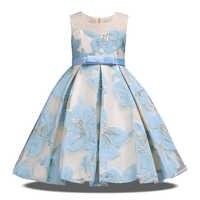 Vestido de verano para niña, elegante, para fiesta, boda, vestidos infantiles para niñas, ropa para niños, vestido de princesa Floral, 10 a 12 años, 2020