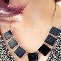 2014 de la moda al por mayor 2013 de la vendimia collar de esmalte de color sólido en forma de geometría accesorios de moda regalos femeninos el envío libre