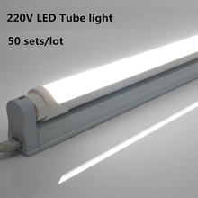 50 Sets/Lot High Bright T8 LED Tube Lamp AC 220V 8W Constant current 60cm LED T8 Integrated Driver Fluorescent Light Bulb mtspace high quality 220 240v ac 36w wide voltage t8 electronic ballast fluorescent lamp ballasts