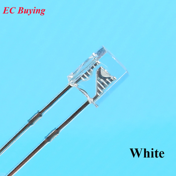 We kupowanie 100 sztuk 2X3X4 LED biały przezroczysty DC 3 V prostokąt LED-dioda elektroluminescencyjna 2 * 3*4mm Ultra jasne żarówki