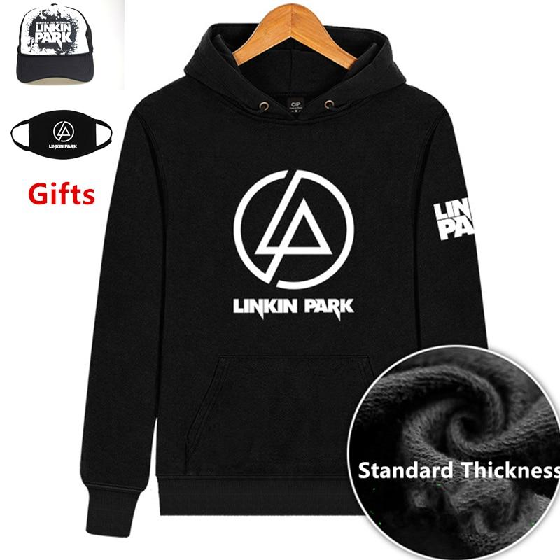 Maschera & Cap come Regali Linkin Park con cappuccio di spessore e standard di spessore hip hop Rapper Popper Locker Bboy DJ ballerino pullover rivestimento del cappotto